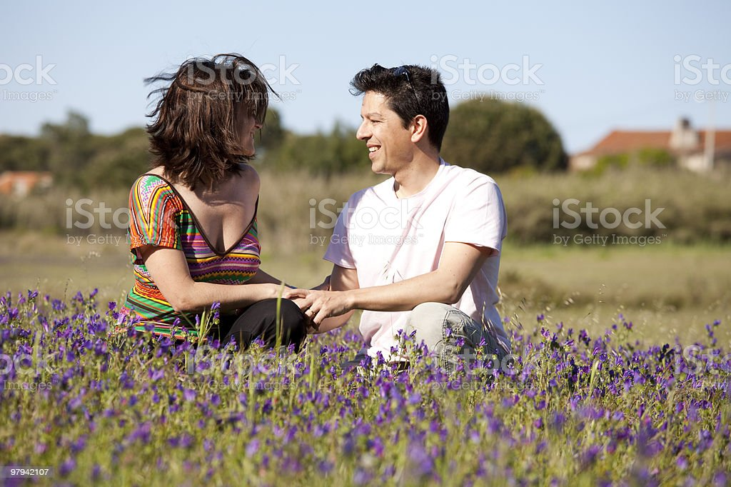 Couple love in outdoor royalty-free stock photo