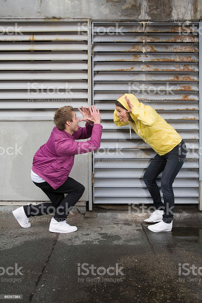 Couple making faces royalty-free stock photo