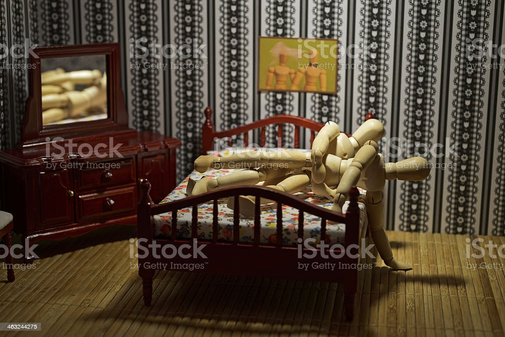 Couple making love royalty-free stock photo