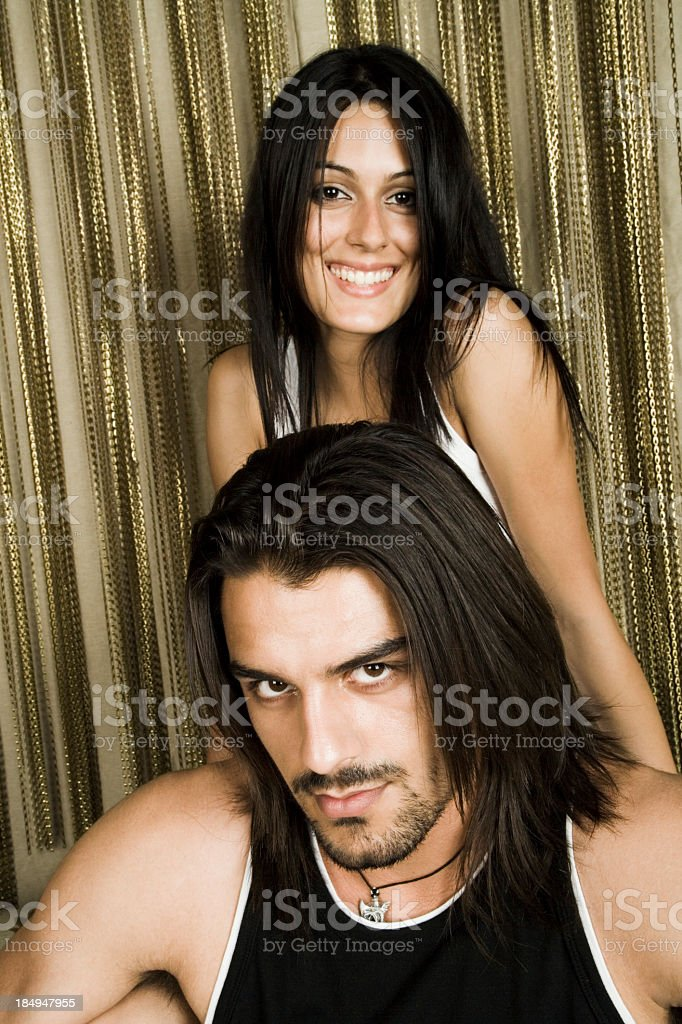 couple man & woman portrait royalty-free stock photo