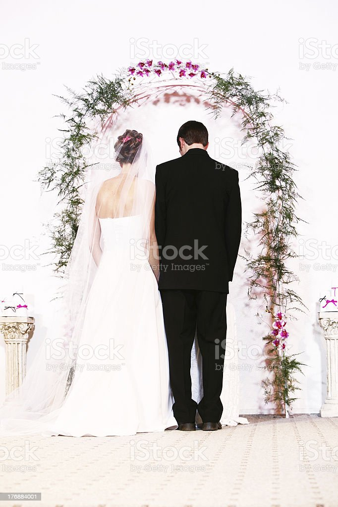 Couple Marriage Vertical Portrait royalty-free stock photo
