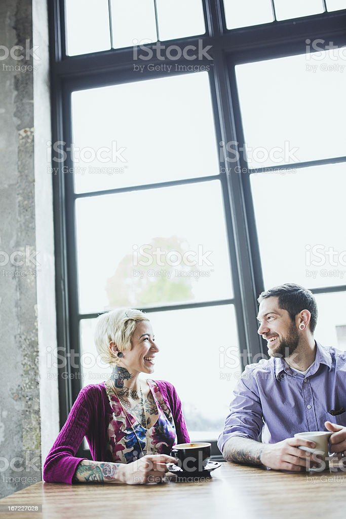 Couple Meeting At Coffee Shop royalty-free stock photo