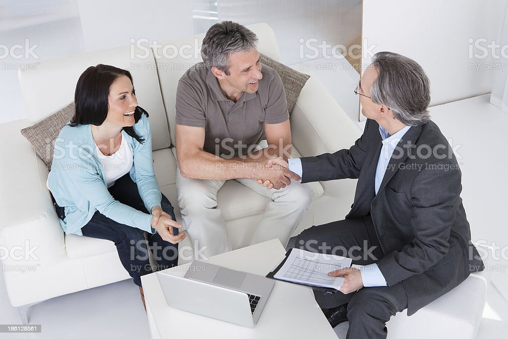 Couple Meeting Consultant stock photo