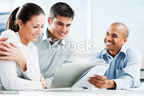 153136893 istock photo Couple meeting with financial advisor 182025813