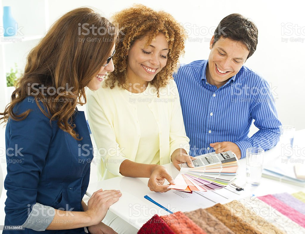 Couple Meeting with Interior Designer royalty-free stock photo