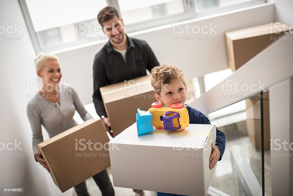 couple moving into new apartment stock photo more pictures of adult istock. Black Bedroom Furniture Sets. Home Design Ideas
