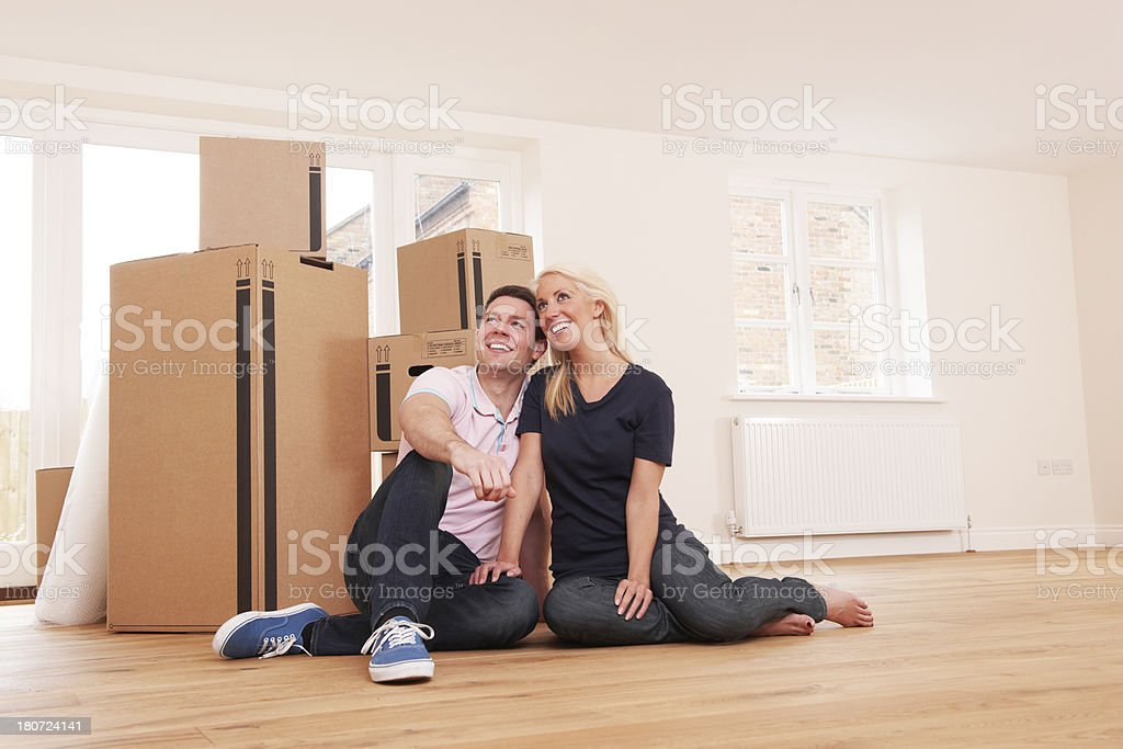 Couple Moving Into New Home Together royalty-free stock photo