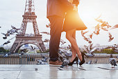 istock couple near Eiffel tower in Paris 495833072