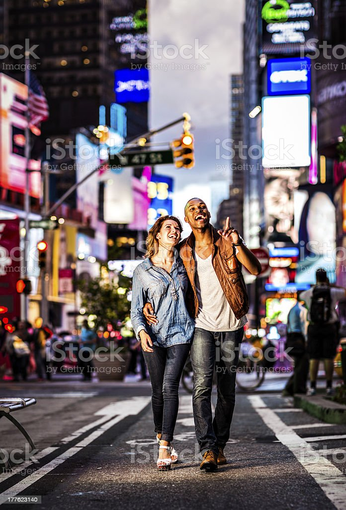 Couple New York city lifestyle royalty-free stock photo