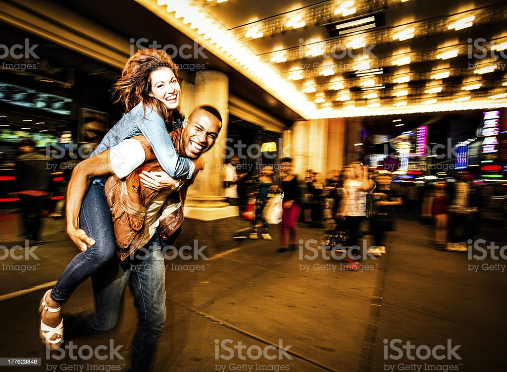 Couple New York city lifestyle stock photo