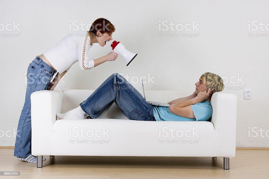 Couple not communicating royalty-free stock photo
