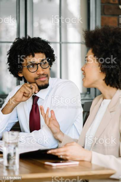 Couple of business persons on a meeting picture id1132848694?b=1&k=6&m=1132848694&s=612x612&h=jaky u7azzufwjfh8pnfh 4 zv3aw4h 0ckh6yx4gnu=