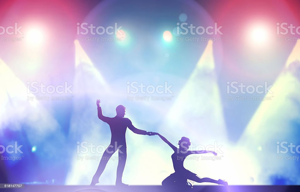 Couple of dancers in dancing pose stock photo