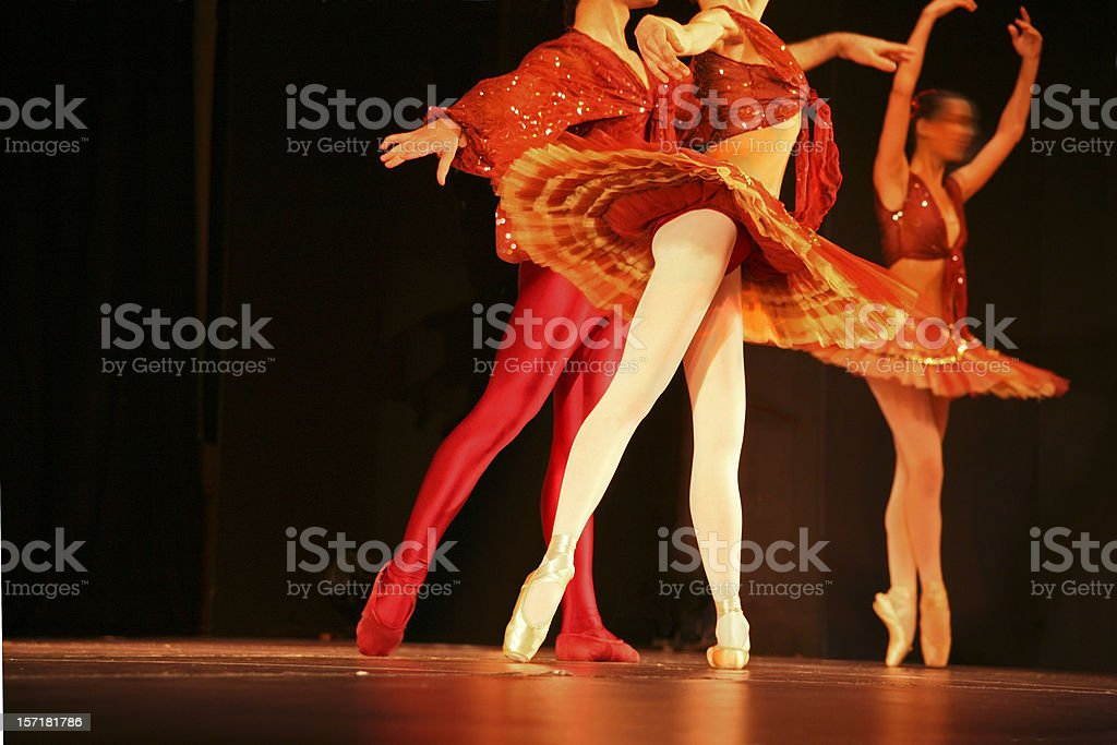 Couple of dancers royalty-free stock photo
