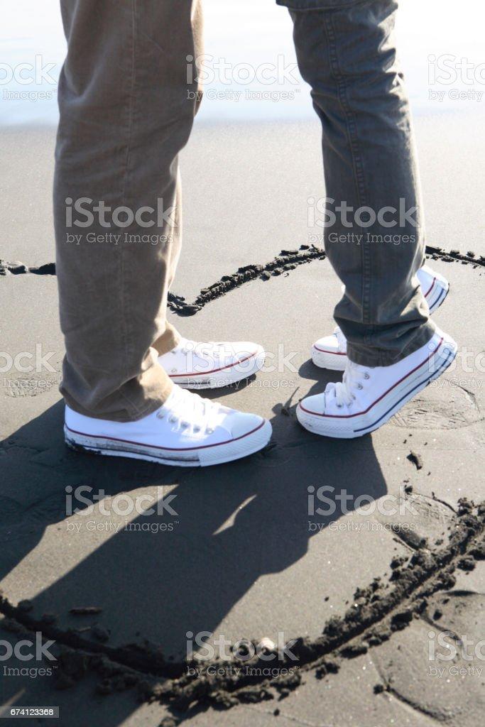 一對夫婦的江之島島腿 免版稅 stock photo