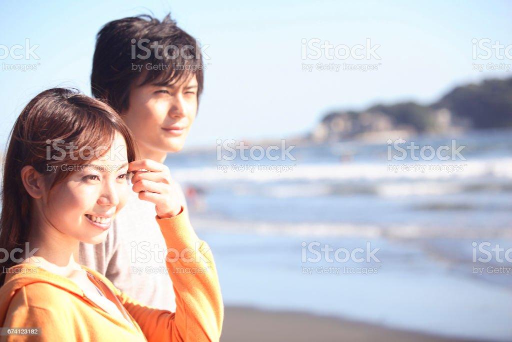 一對夫婦的江之島 免版稅 stock photo
