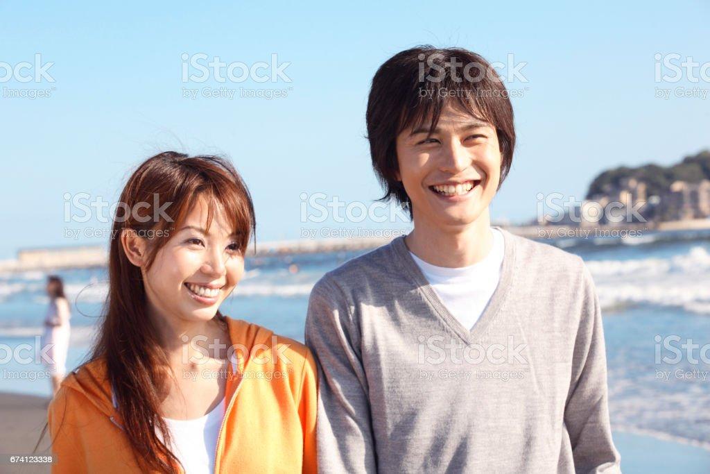 A couple of Enoshima stock photo