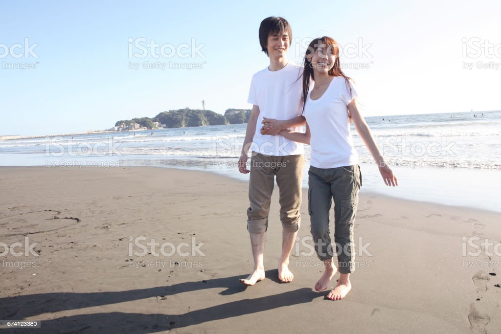 A couple of Enoshima royalty-free stock photo