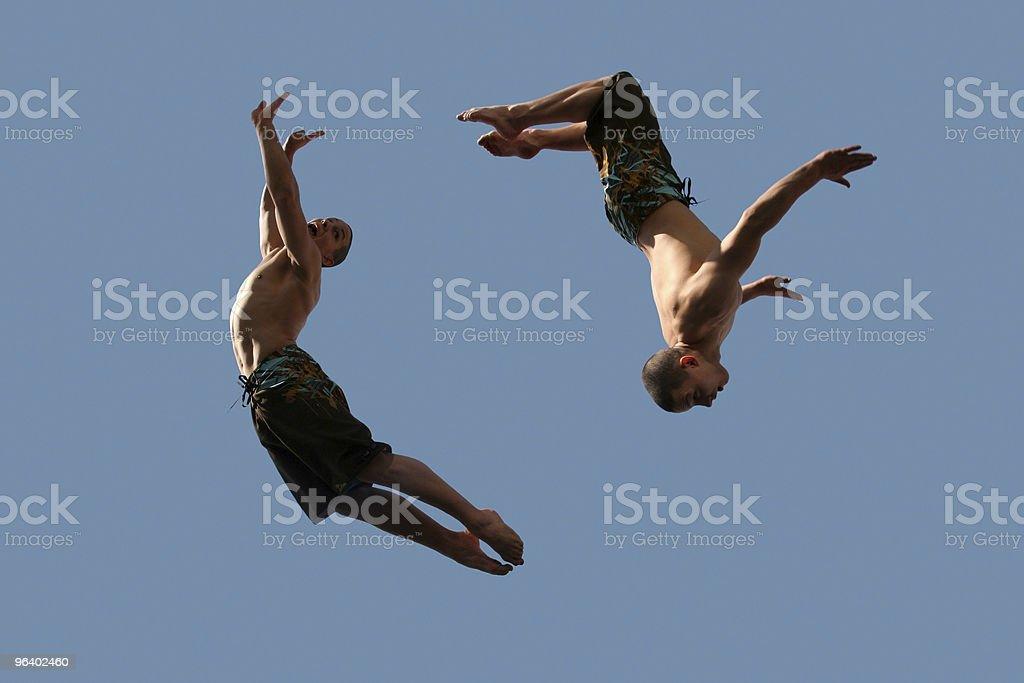 Couple of flying boys - Royalty-free Abundance Stock Photo