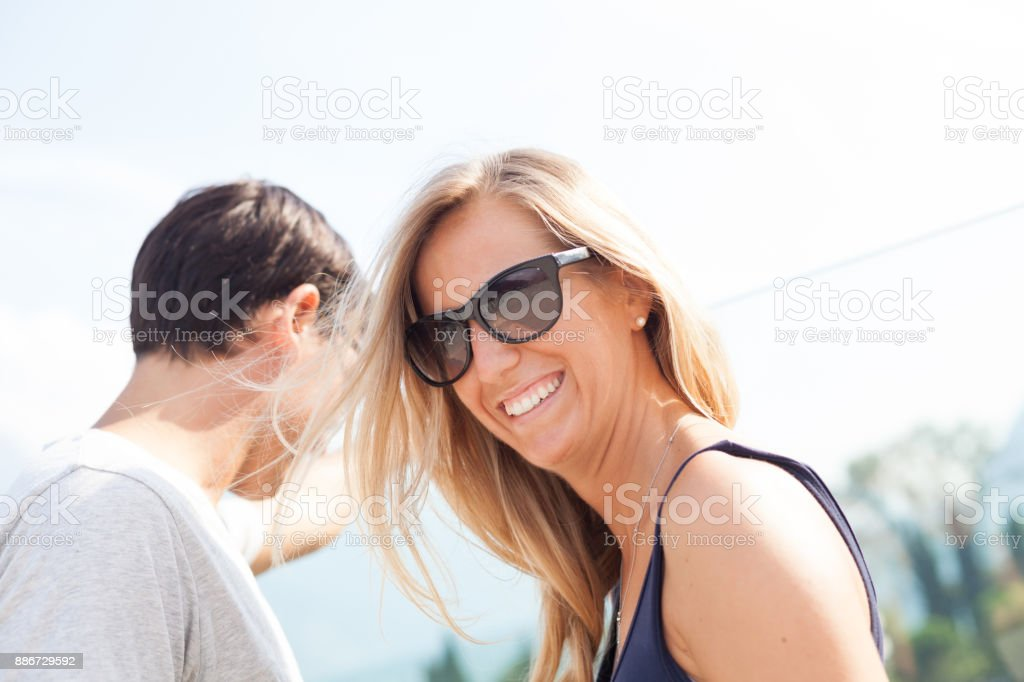 Couple de touristes heureux - Photo