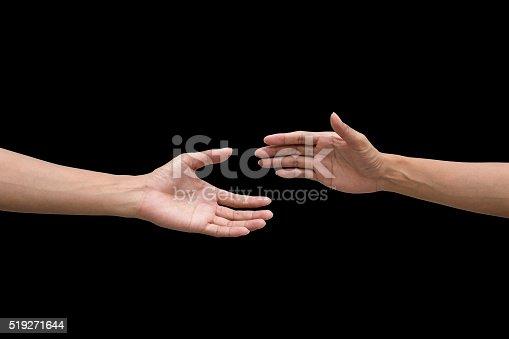 1035928092istockphoto couple of helping/praying hand black background 519271644