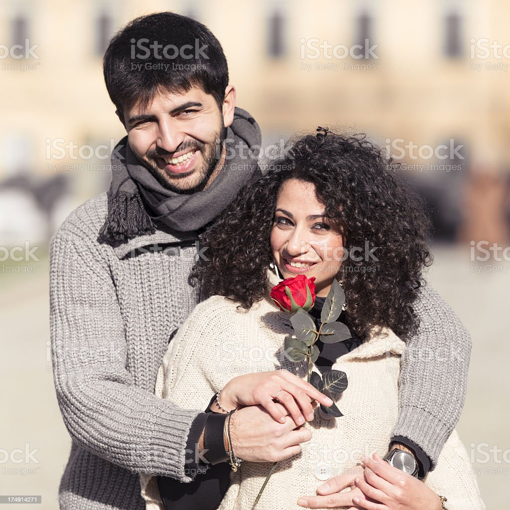 couple of lover flirting on st. valentine royalty-free stock photo