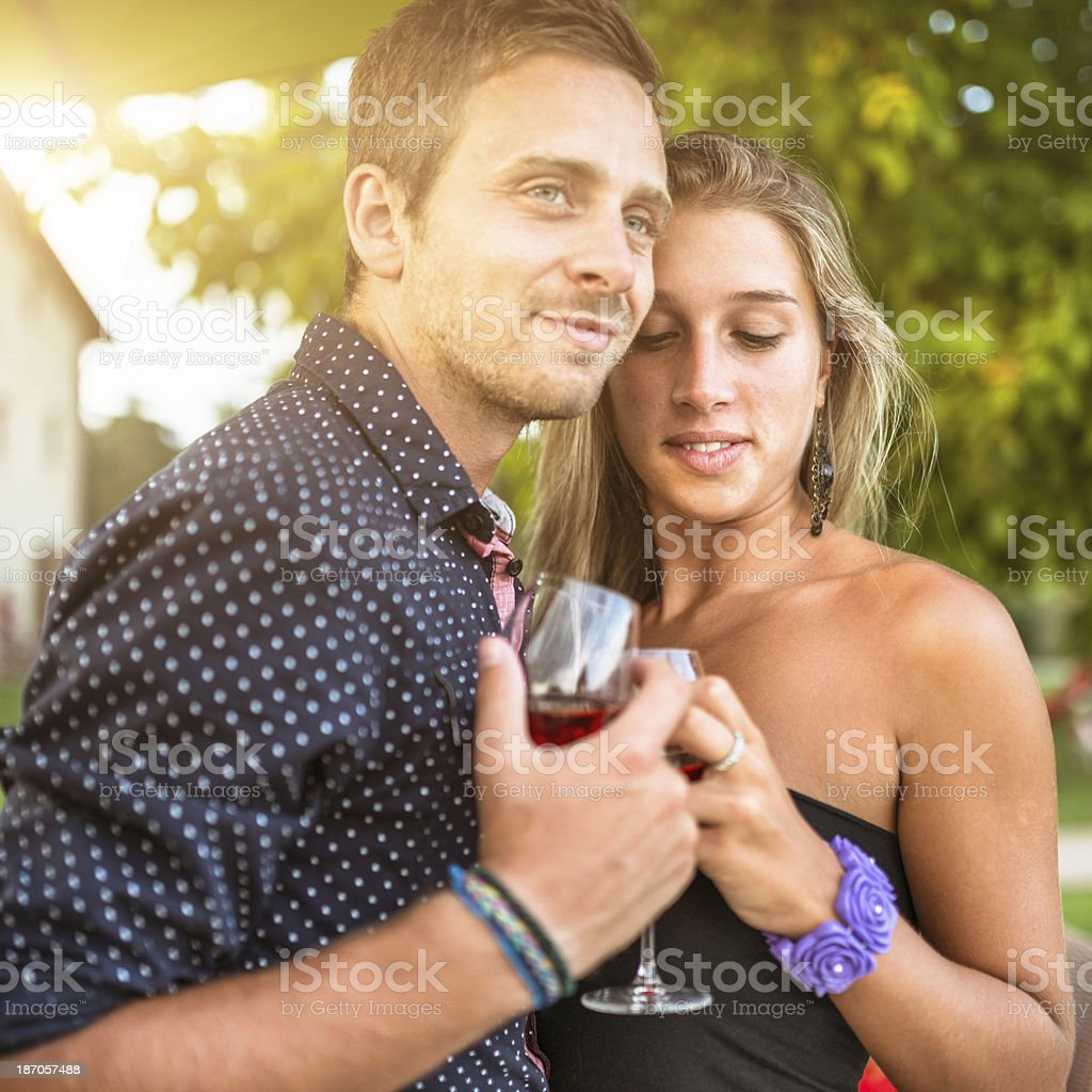 couple of lovers flirting during the honeymoon royalty-free stock photo