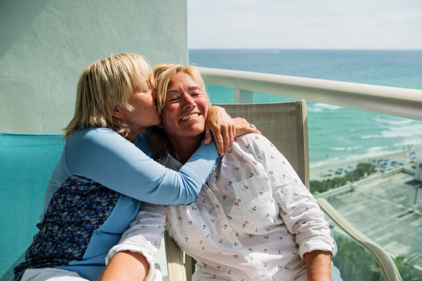 Mature Lesbian Kissing Stock Photos, Pictures  Royalty -3207