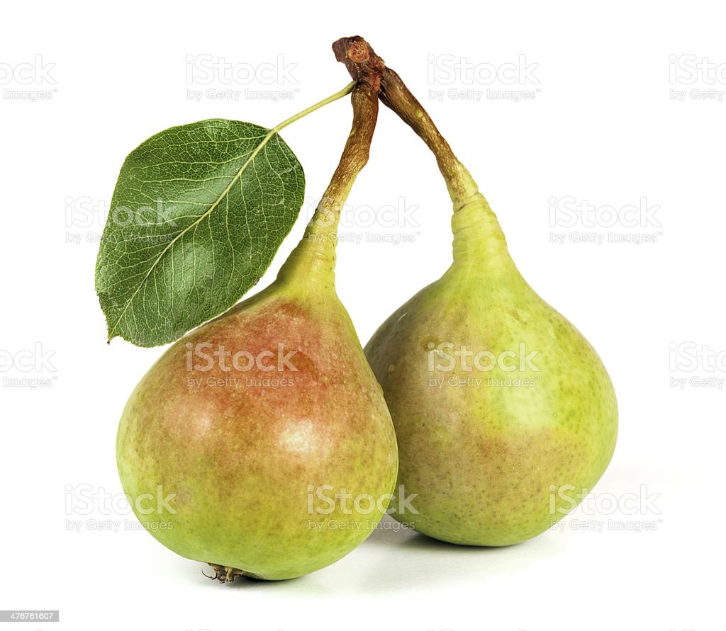 Couple of pears royalty-free stock photo