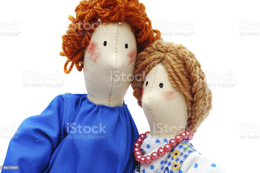 Couple of peasants in traditional dress royalty-free stock photo