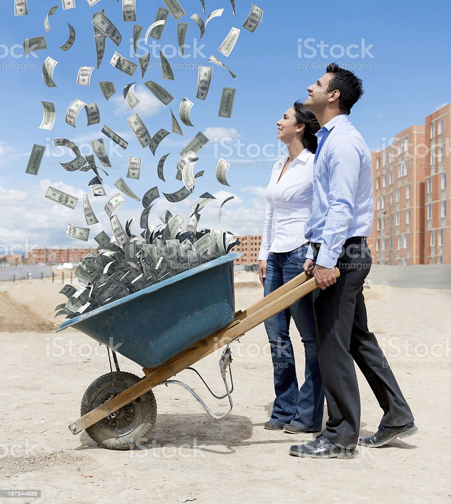 Couple of rich architects stock photo