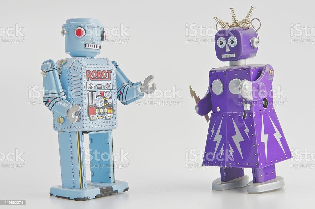 Coppia di robot - foto stock