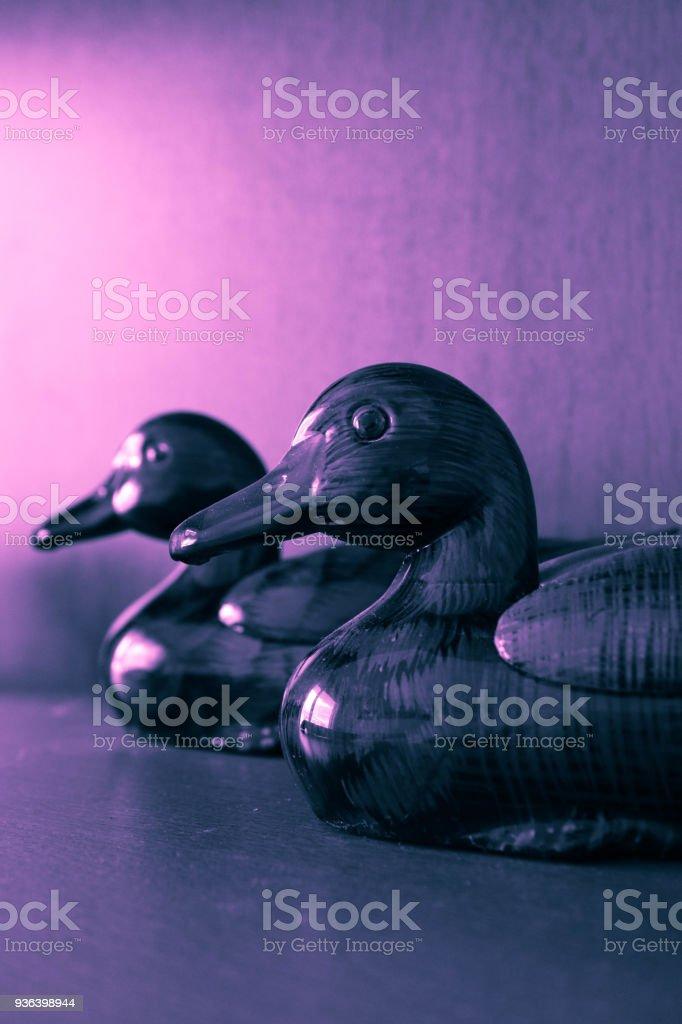 Couple Of Romantic Love Ducks Feng Shui Symbol Stock Photo More