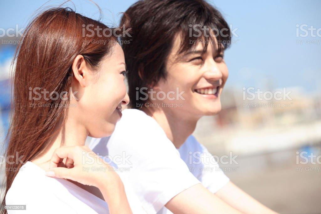一對夫婦的湘南 免版稅 stock photo