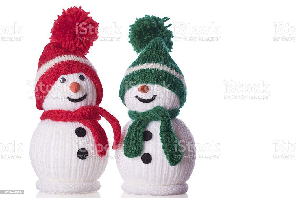 Par de muñeco de nieve - foto de stock