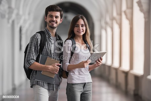 istock Couple of students 865669008