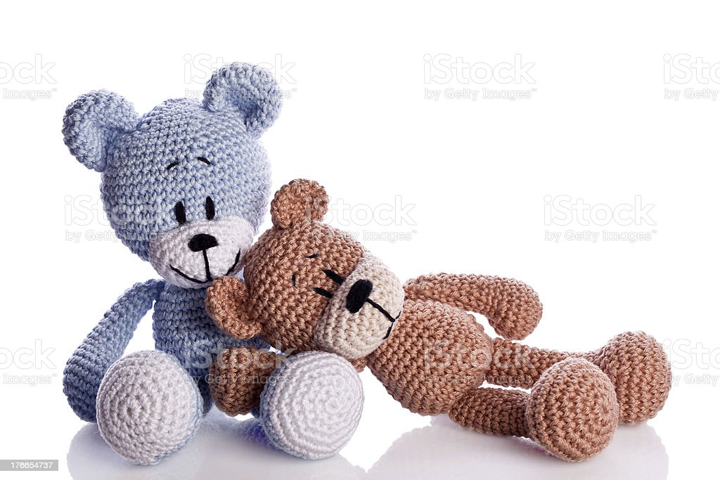 couple of teddy bear royalty-free stock photo