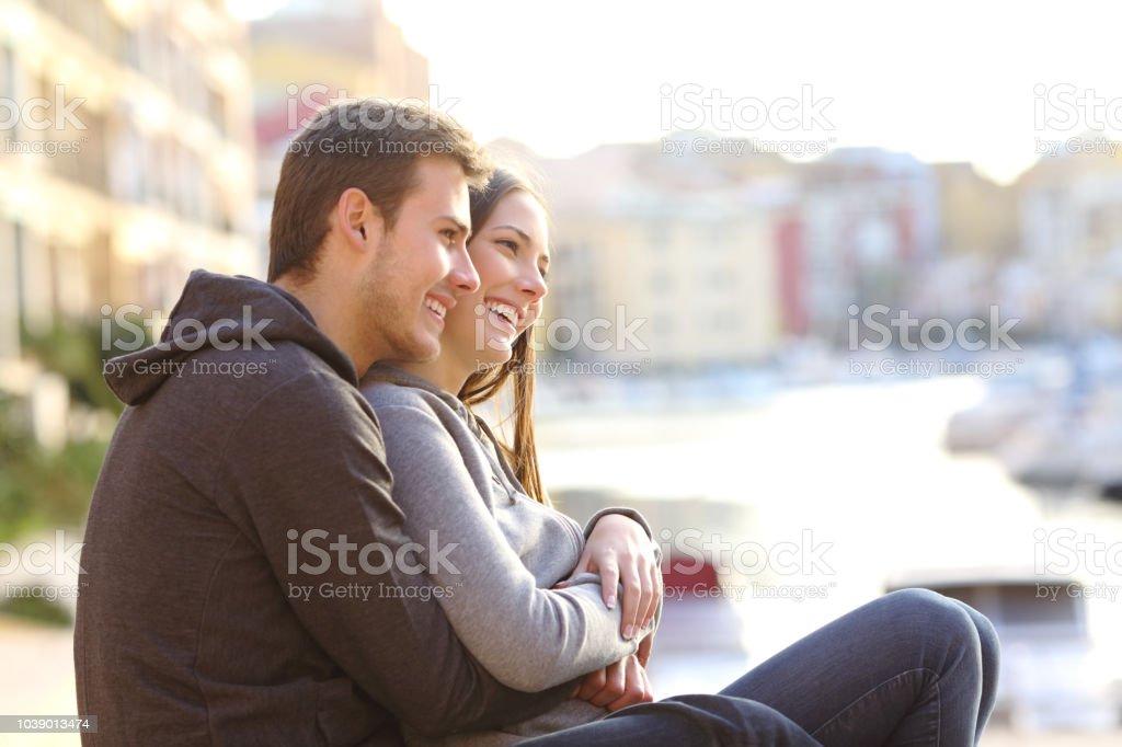 teenagers falling in love