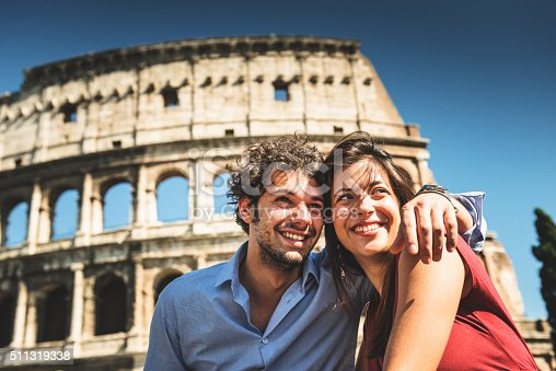 istock couple of tourist in rome enjoy the vacation 511319338
