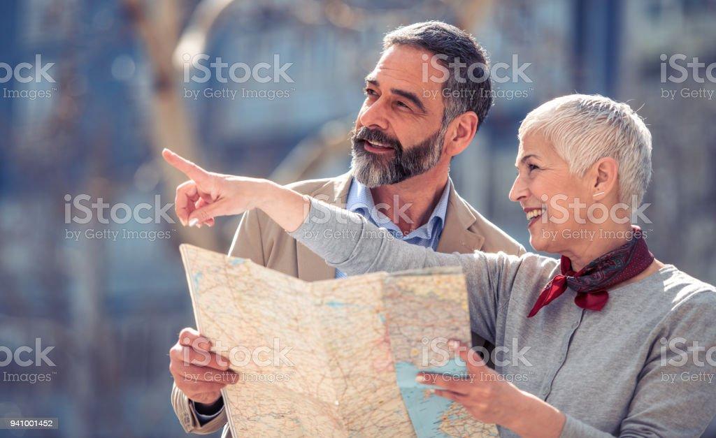 Couple of tourist stock photo