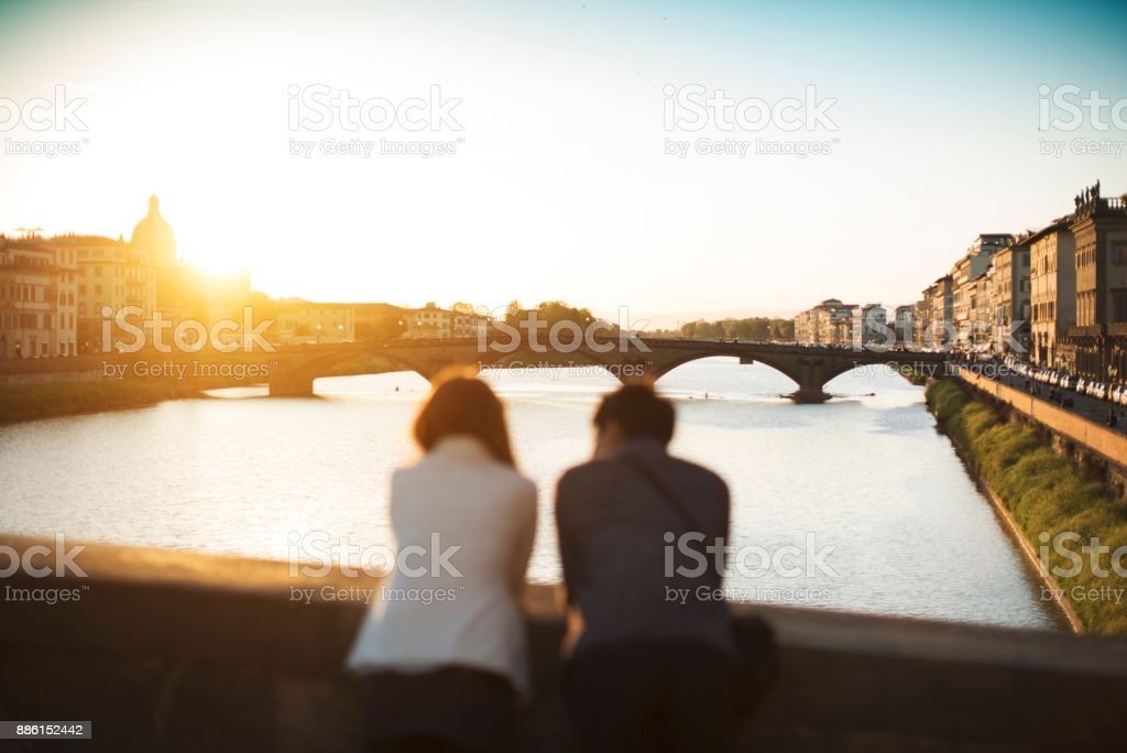 Paar von Touristen in Florenz, in Italien – Foto