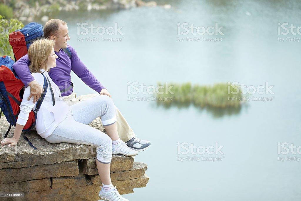 Couple of travelers royalty-free stock photo