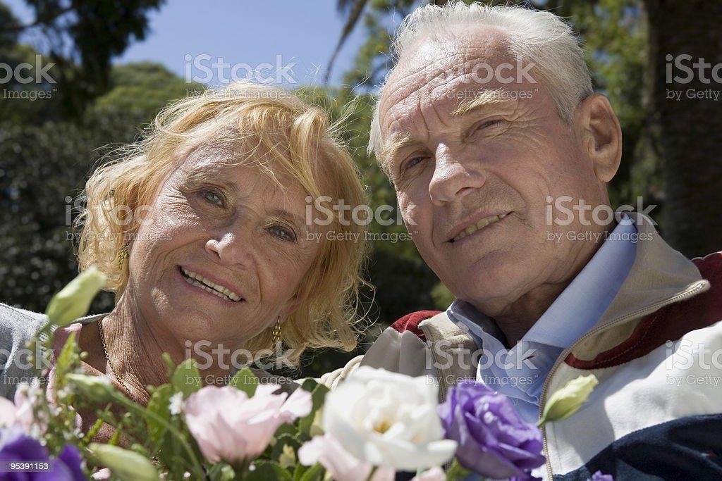 Paar zwei ältere Erwachsene Lizenzfreies stock-foto