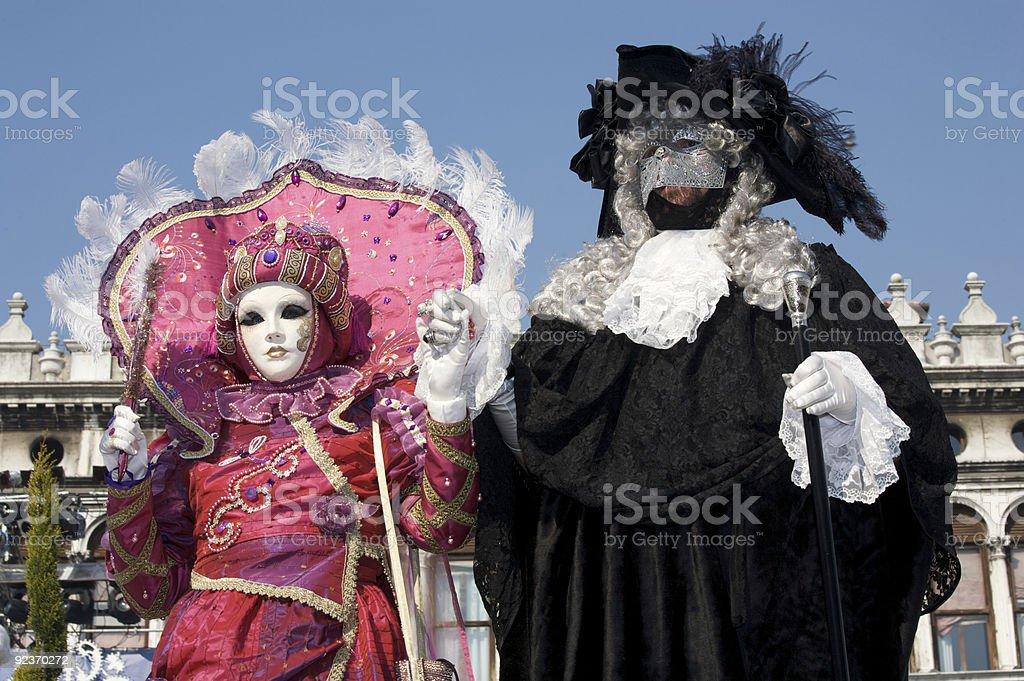 Couple of venetian mask royalty-free stock photo