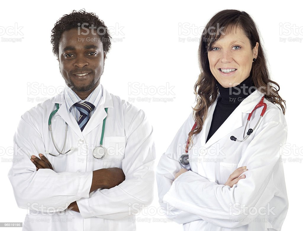 Para młodych lekarzy zbiór zdjęć royalty-free