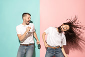 istock A couple of young man and woman dancing hip-hop at studio 993736956