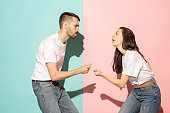 istock A couple of young man and woman dancing hip-hop at studio 993737158