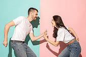 istock A couple of young man and woman dancing hip-hop at studio 993737220