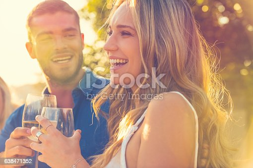 istock Couple on a date at as restaurant. 638471352