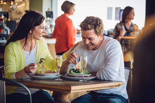 Couple on a luch date - Photo